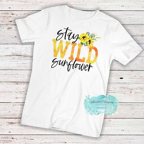 Stay Wild Sunflower - TShirt