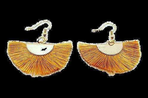 Golden Tassel Fan Earrings