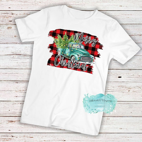 Blue Christmas Truck - TShirt (Choose Design)