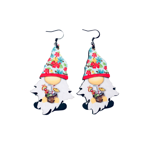Bahama Mama Gnome Earrings