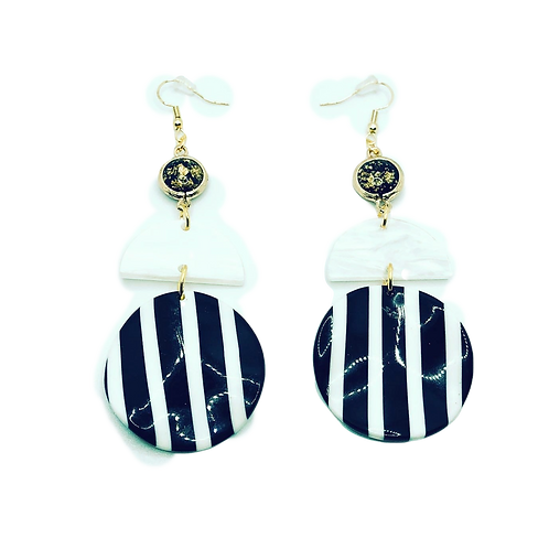 Breakfast At Tiffany's - Circle Stacked Dangle Earrings