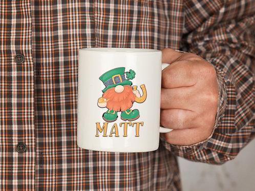Irish Gnome Personalized Mug
