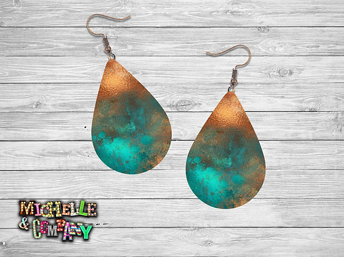 Copper Patina Earrings - #3