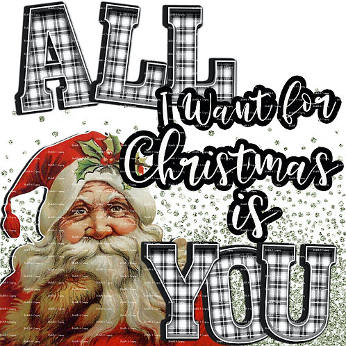 All I Want For Christmas Is You -Glitter