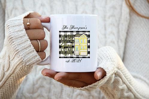 Home Sweet Home Mug - Est. Date w/ Last Name