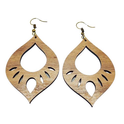 Sultans Flame - Walnut Earrings