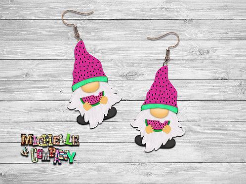 Watermelon Gnome Earrings