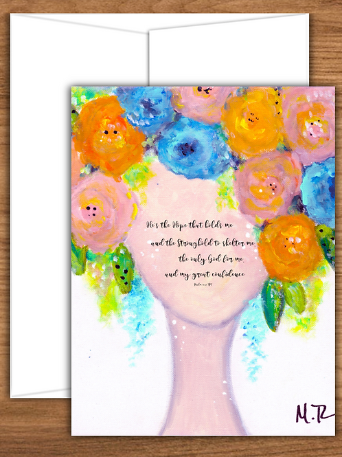 Inspirational Girl Art - Note Cards