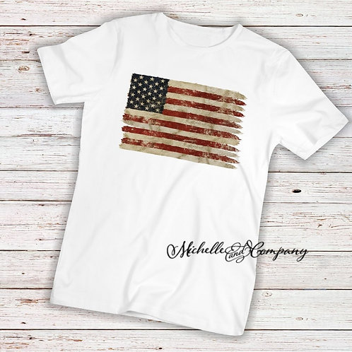 Weathered American Flag - TShirt