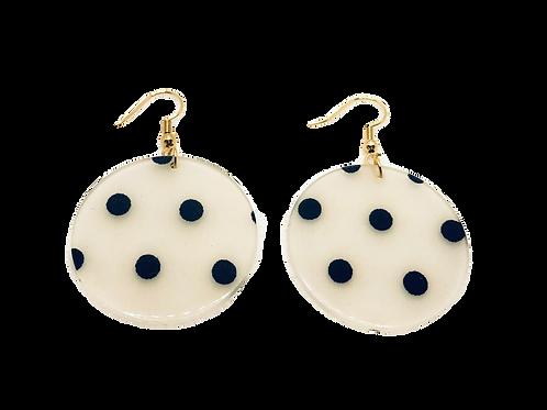 Polka Dot Resin Earrings