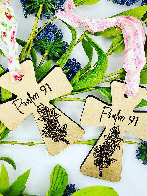 Psalm 91 Wood Ornament