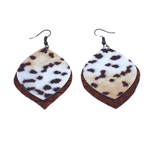 Cheetah Stacked Earrings - Two Choices!