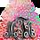 Thumbnail: Monogram Earrings  - Dark Pink/Blue Cheetah