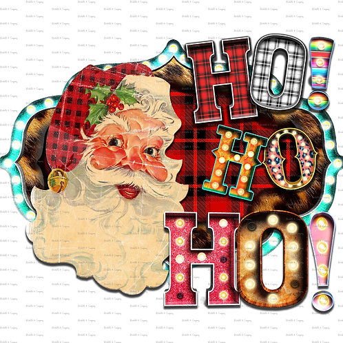 Buffalo Check Santa HOHOHO TShirt