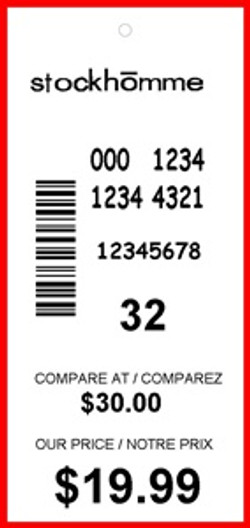 STOCKHOMME - TAG - 3 X 1.375