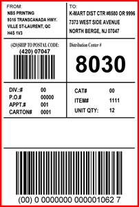 KMART - LABEL - 4 X 6 -2