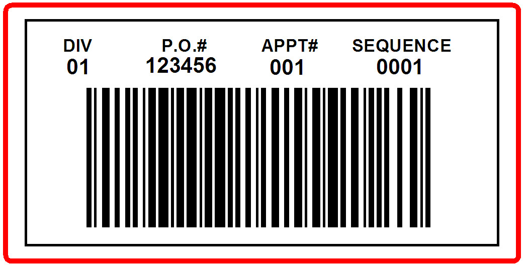 KMART - LABEL - 4 X 2