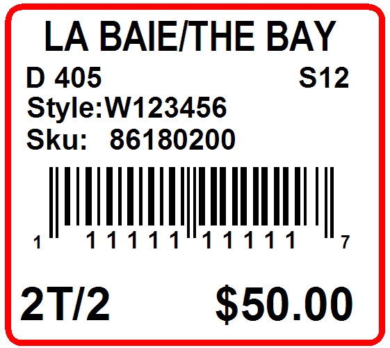 THE BAY - LABEL - 1.25 X 1.125 -2
