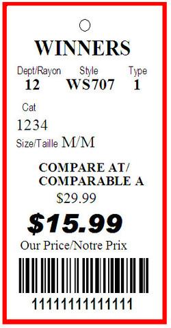 WINNERS - TAG - 1.375 X 2.75