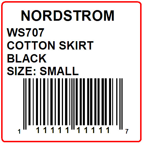 NORDSTROM - LABEL - 2 X 2