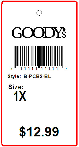 GOODY'S - TAG - 1.375 X 2.75