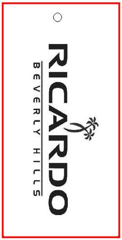 BENTLY - RICARDO - TAG - 1.375 X 2.75 BACK