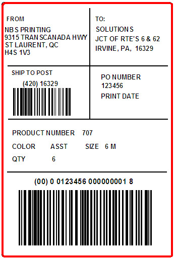 ORCHARD BRANDS - SOLUTION - LABEL - 4 X 6