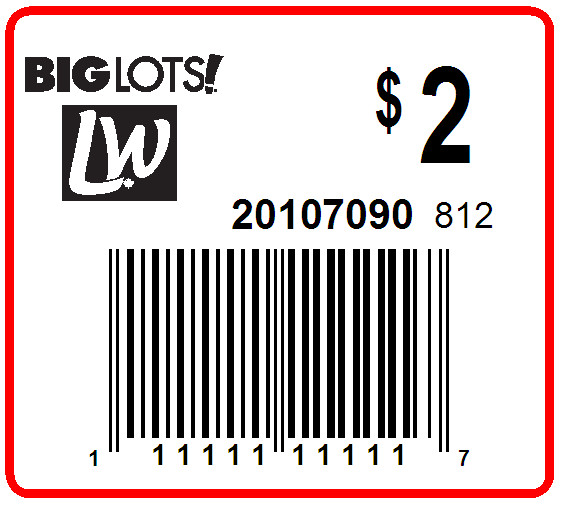 BIG LOTS - LABEL - 1.5 x 1