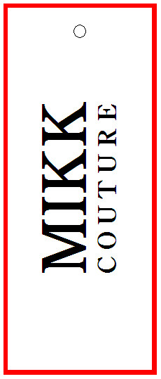 MIKK COUTURE - TAG - 1.5X3 back