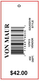 VON MAUR - TAG - 2.625 X 1.25