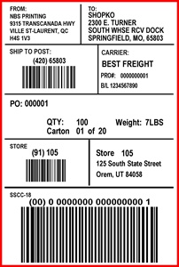 SHOPKO - LABEL - 4 X 6