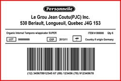 JEAN COUTU - LABEL - 4 X 6