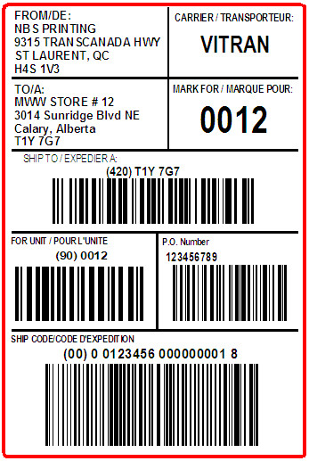 MARK'S WAREHOUSE - LABEL - 4 X 6
