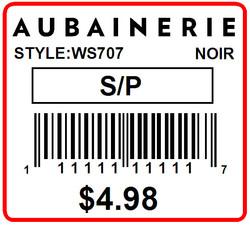 AUBAINERIE - LABEL - 1.25 X 1.125