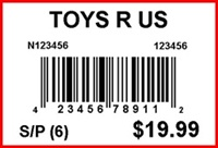 TOYS R US - LABEL - 1.5 X 1