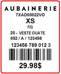 AUBAINERIE - LABEL - 1.3 X 1.6