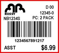 ROSSY - LABEL - 1.25 X 1.125