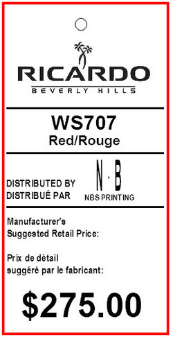 BENTLY - RICARDO - TAG - 1.375 X 2.75