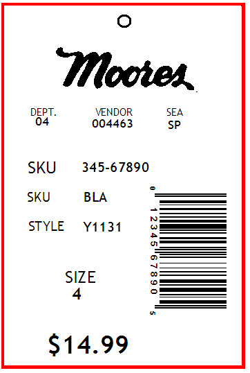 MOORES - TAG - 2 x 3
