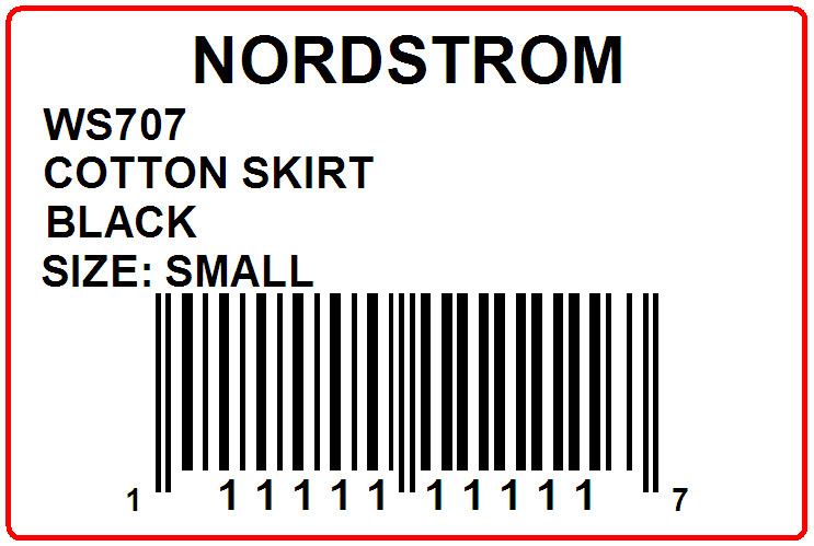 NORDSTROM - LABEL - 3 X 2