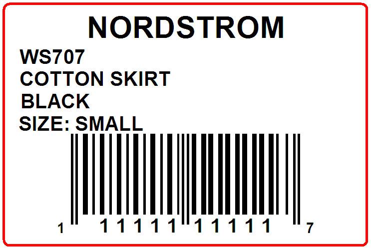NORDSTROM - LABEL - 3 X 2