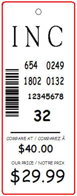 INC - TAG - 1.25 X3.25
