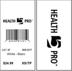 HEALTH PRO - TAG - 1.5 X 3 BACK