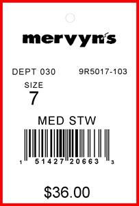 MERVYN'S - TAG - 2 X 3