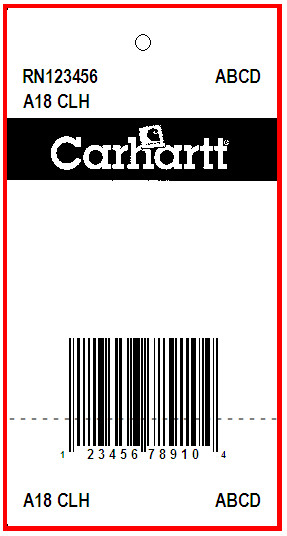 CARHARTT - TAG - 1.375 X 3.375 FRONT