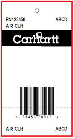 CARHARTT - TAG - 1.375 X 3.375 FRONT