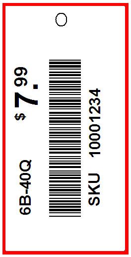 ARDENE - TAG - 1.5 x 0.75