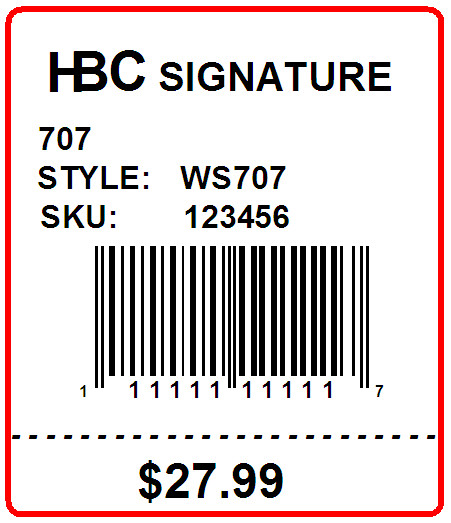 HBC SIGNATURE - LABEL - 1.5 x 1.75 - bottom perf.