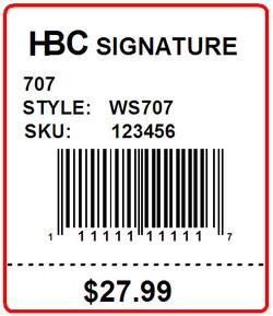 HBC SIGNATURE - LABEL - 1.5 x 1.75 - bottom perf.
