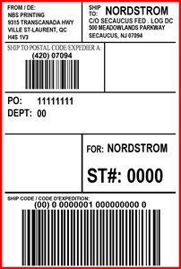 NORDSTROM - LABEL - 4 X 6